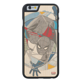 Spider-Man In Kaleidoscope Web Carved Maple iPhone 6 Case