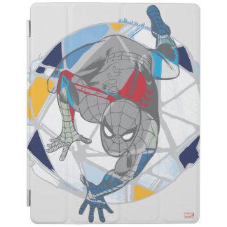 Spider-Man In Kaleidoscope Web iPad Cover