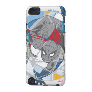 Spider-Man In Kaleidoscope Web iPod Touch (5th Generation) Case