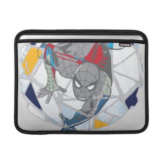 Spider-Man In Kaleidoscope Web MacBook Air Sleeve