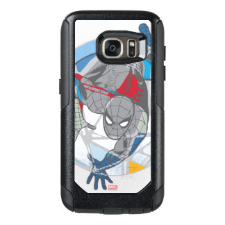Spider-Man In Kaleidoscope Web OtterBox Samsung Galaxy S7 Case