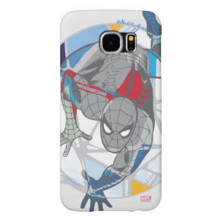Spider-Man In Kaleidoscope Web Samsung Galaxy S6 Cases