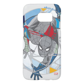 Spider-Man In Kaleidoscope Web Samsung Galaxy S7 Case