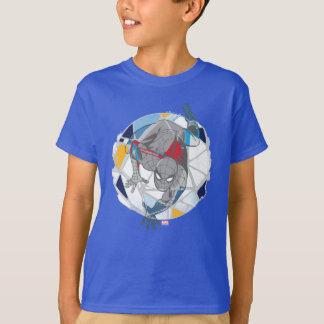 Spider-Man In Kaleidoscope Web T-Shirt