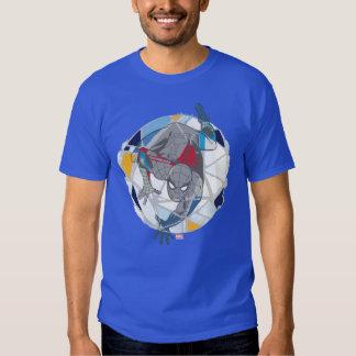 Spider-Man In Kaleidoscope Web Tshirts