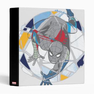 Spider-Man In Kaleidoscope Web Vinyl Binders