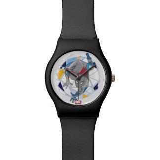 Spider-Man In Kaleidoscope Web Wrist Watches