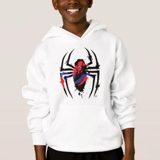Spider-Man in Spider Shaped Ink Splatter