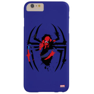Spider-Man in Spider Shaped Ink Splatter Barely There iPhone 6 Plus Case