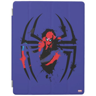 Spider-Man in Spider Shaped Ink Splatter iPad Cover