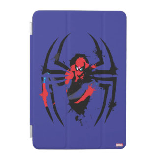 Spider-Man in Spider Shaped Ink Splatter iPad Mini Cover