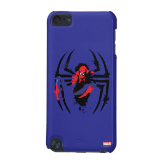 Spider-Man in Spider Shaped Ink Splatter iPod Touch (5th Generation) Covers