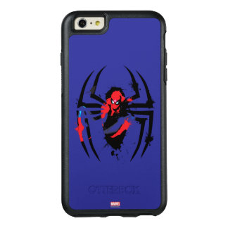 Spider-Man in Spider Shaped Ink Splatter OtterBox iPhone 6/6s Plus Case