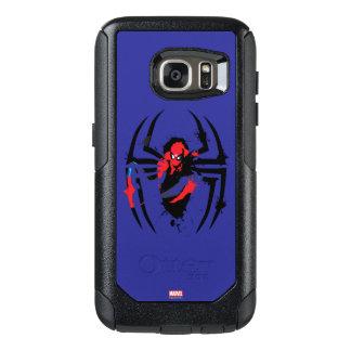 Spider-Man in Spider Shaped Ink Splatter OtterBox Samsung Galaxy S7 Case