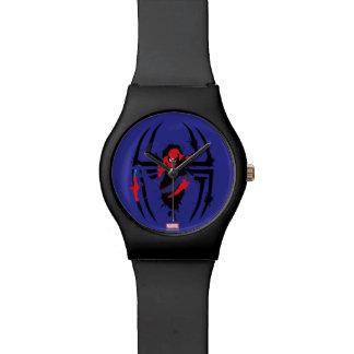 Spider-Man in Spider Shaped Ink Splatter Watches