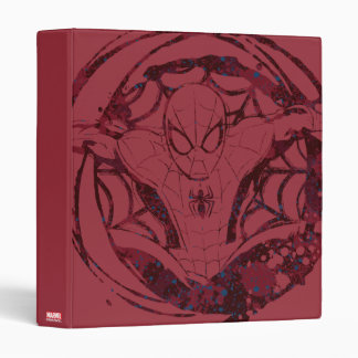 Spider-Man In Web Graphic 3 Ring Binder