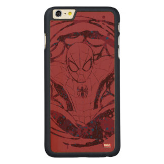 Spider-Man In Web Graphic Carved® Maple iPhone 6 Plus Case