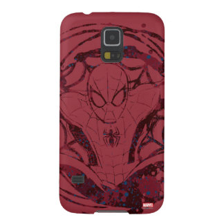 Spider-Man In Web Graphic Galaxy S5 Cover