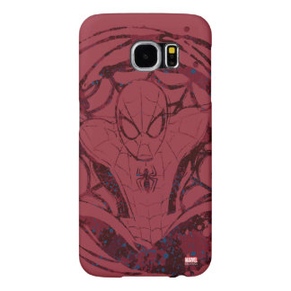 Spider-Man In Web Graphic Samsung Galaxy S6 Cases