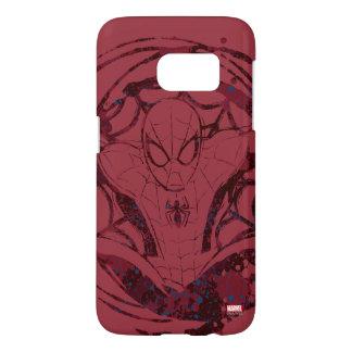 Spider-Man In Web Graphic Samsung Galaxy S7 Case