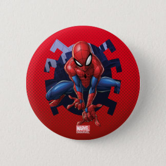 Spider-Man Leaping Out Of Spider Graphic 2 Inch Round Button