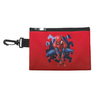 Spider-Man Leaping Out Of Spider Graphic Accessory Bag