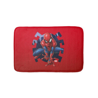 Spider-Man Leaping Out Of Spider Graphic Bath Mat