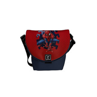 Spider-Man Leaping Out Of Spider Graphic Courier Bags