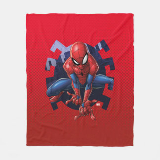 Spider-Man Leaping Out Of Spider Graphic Fleece Blanket