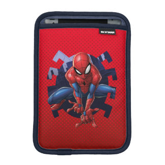 Spider-Man Leaping Out Of Spider Graphic iPad Mini Sleeve