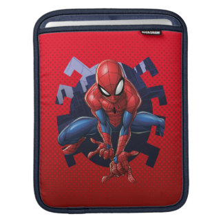 Spider-Man Leaping Out Of Spider Graphic iPad Sleeve
