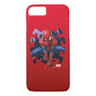 Spider-Man Leaping Out Of Spider Graphic iPhone 8/7 Case