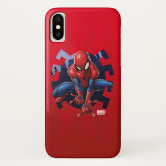 Spider-Man Leaping Out Of Spider Graphic iPhone X Case