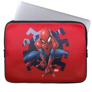 Spider-Man Leaping Out Of Spider Graphic Laptop Sleeve