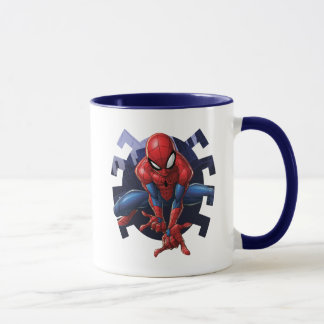 Spider-Man Leaping Out Of Spider Graphic Mug