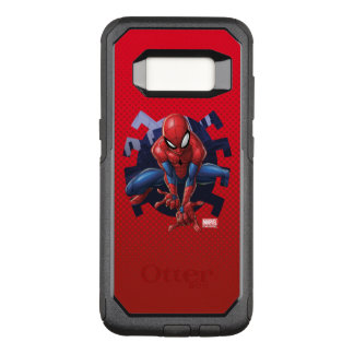 Spider-Man Leaping Out Of Spider Graphic OtterBox Commuter Samsung Galaxy S8 Case