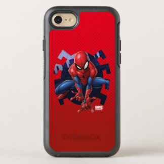 Spider-Man Leaping Out Of Spider Graphic OtterBox Symmetry iPhone 8/7 Case