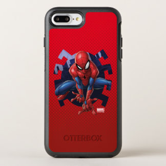 Spider-Man Leaping Out Of Spider Graphic OtterBox Symmetry iPhone 8 Plus/7 Plus Case