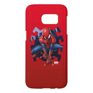 Spider-Man Leaping Out Of Spider Graphic Samsung Galaxy S7 Case