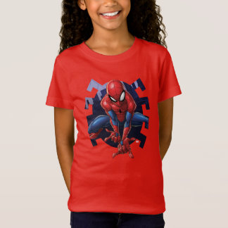 Spider-Man Leaping Out Of Spider Graphic T-Shirt