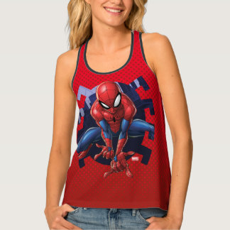 Spider-Man Leaping Out Of Spider Graphic Tank Top