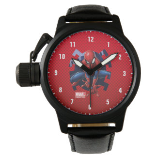 Spider-Man Leaping Out Of Spider Graphic Watch