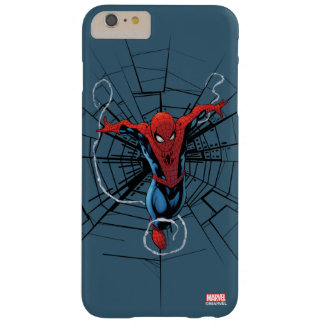 Spider-Man Leaping With Webbing Barely There iPhone 6 Plus Case