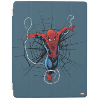 Spider-Man Leaping With Webbing iPad Cover