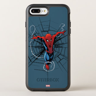 Spider-Man Leaping With Webbing OtterBox Symmetry iPhone 7 Plus Case
