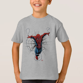 Spider-Man Leaping With Webbing T-Shirt