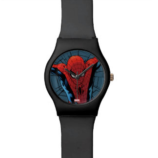 Spider-Man Leaping With Webbing Wristwatch