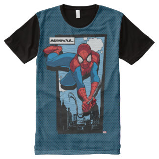 Spider-Man Meanwhile Comic Panel All-Over-Print T-Shirt