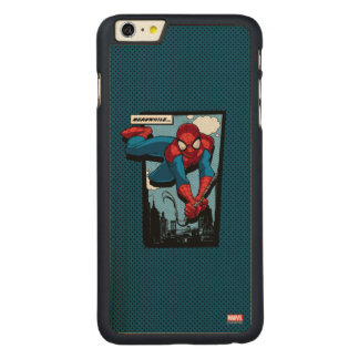 Spider-Man Meanwhile Comic Panel Carved® Maple iPhone 6 Plus Case