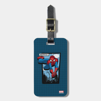 Spider-Man Meanwhile Comic Panel Travel Bag Tags